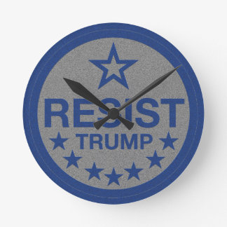 Resist Trump Round Clock