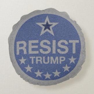 Resist Trump Round Pillow
