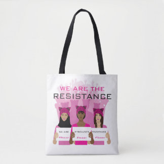 RESIST - We Are The Resistance - Pink Hats Tote Bag
