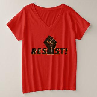Resist with a Fist Plus Size V-Neck T-Shirt