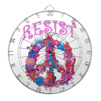 Resist with Peace Dartboard
