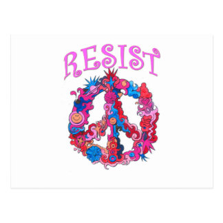 Resist with Peace Postcard
