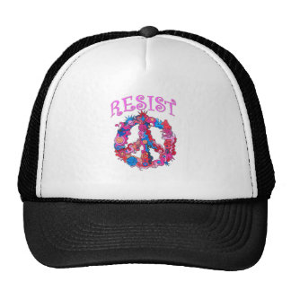 Resist with Peace Trucker Hat