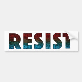 RESIST Word Art Bumper Sticker