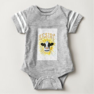 Resistance Dairy Cow Baby Bodysuit