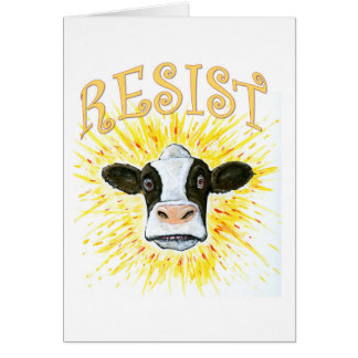 Resistance Dairy Cow Card