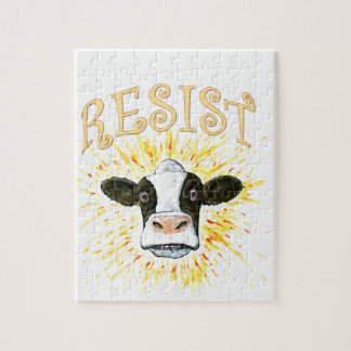Resistance Dairy Cow Jigsaw Puzzle