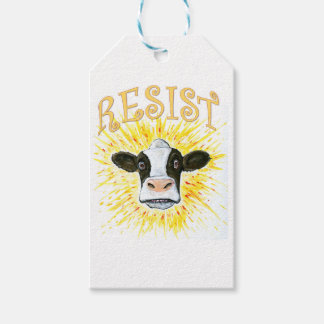 Resistance Dairy Cow Pack Of Gift Tags