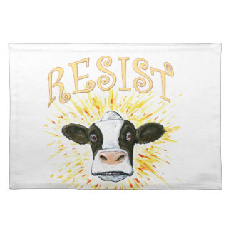 Resistance Dairy Cow Placemat