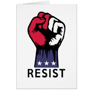Resistance Fist Fight Political Corruption Card
