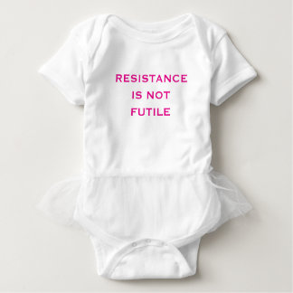 Resistance is NOT Futile Baby Bodysuit