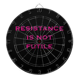 Resistance is NOT Futile Dart Board