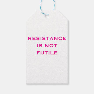 Resistance is NOT Futile Pack Of Gift Tags