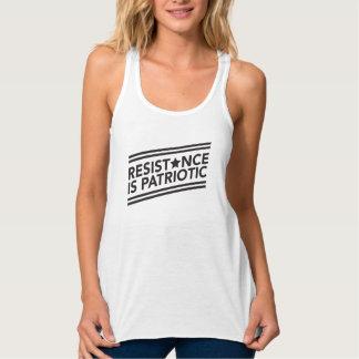 Resistance is Patriotic Flowy Racerback Tank
