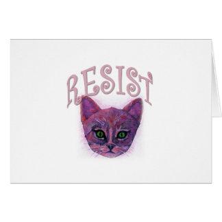 Resistance Kitten Card
