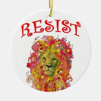 Resistance Lion Ceramic Ornament
