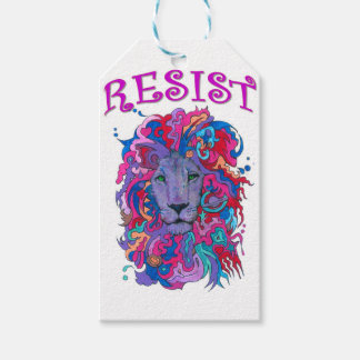 Resistance lion gift tags