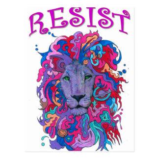 Resistance lion postcard