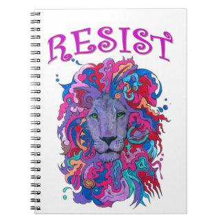 Resistance lion spiral notebook