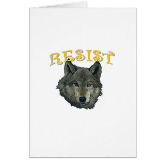 Resistance Wolf Card