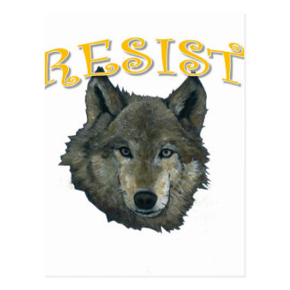 Resistance Wolf Postcard