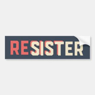 Resister Sister Bumper Sticker