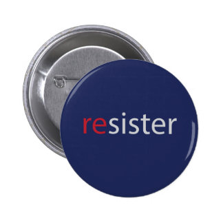 Resister women's march protest slogan 2 inch round button