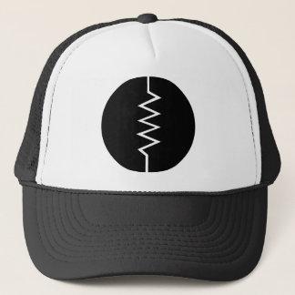 Resistor Symbol - Circled Trucker Hat