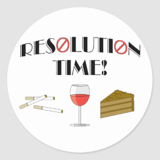 Resolution Time Classic Round Sticker