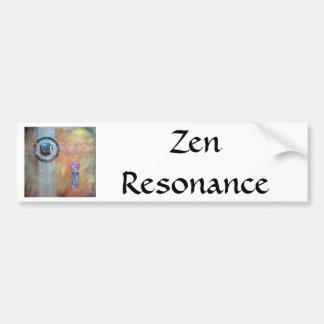 Résonance de zen - médias mélangés autocollant de voiture