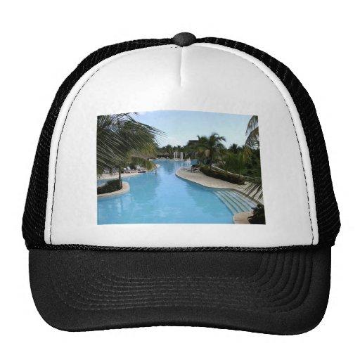 Resort Pool Mesh Hat