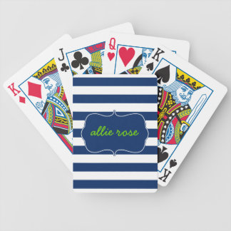 Resort Stripes in Lapis Bicycle Playing Cards