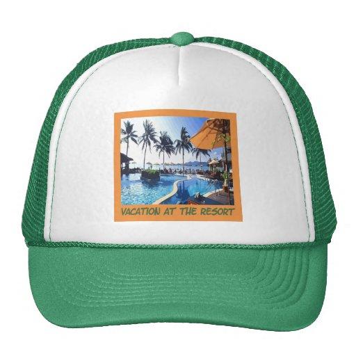Resort Vacation Cap Mesh Hat