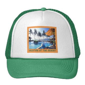 Resort Vacation Cap Trucker Hat