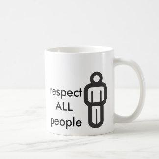respect all people coffee mug