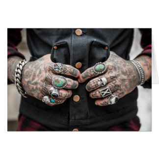 Respect America Tattooed Hands Card