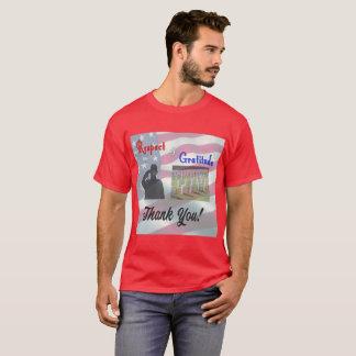 Respect and Gratitude, Thank You Veterans T-Shirt