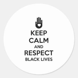 Respect Black Lives Round Sticker