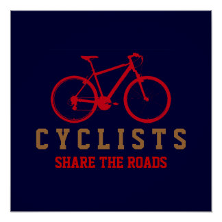 respect cyclists, pedaling poster