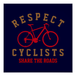 respect cyclists poster