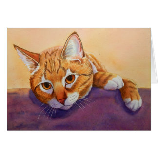 Respect de chat tigré carte de vœux