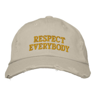 Respect Everybody Embroidered Baseball Cap