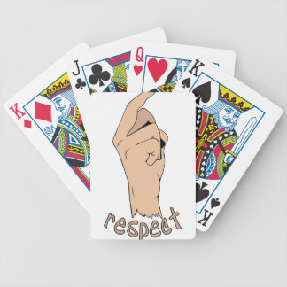 Respect finger bicycle playing cards
