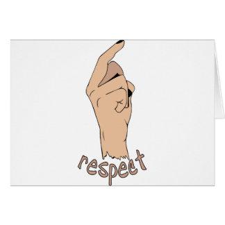 Respect finger card
