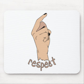 Respect finger mouse pad