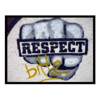 respect fist postcard