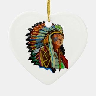 RESPECT FOR NATURE CERAMIC HEART ORNAMENT