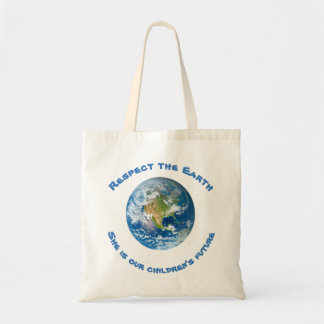Respect Future of Planet Earth Tote Bag