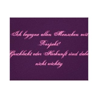 Respect - german text canvas print