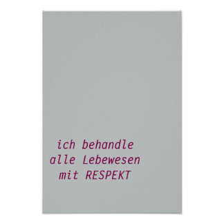 Respect - german text poster
